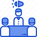 communication, conference, meeting, presentation icon