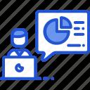 analytics, data, powerpoint, presentation icon