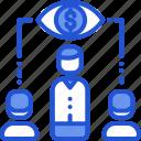 focus, presentation, target, vision icon