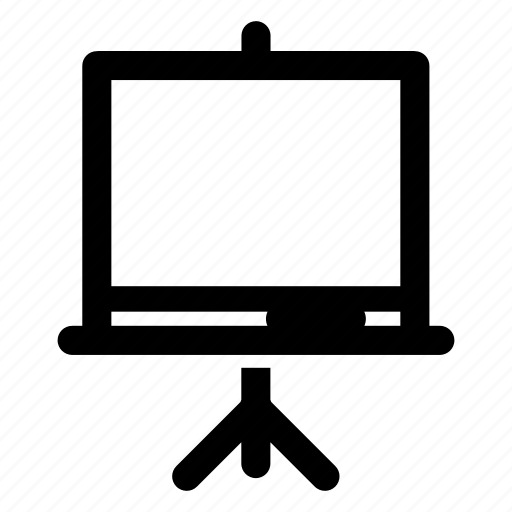blackboard, blank, demo, presentation, tripod, white board icon