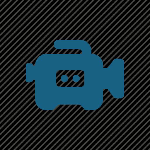 camera, film camera, television camera, video camera icon