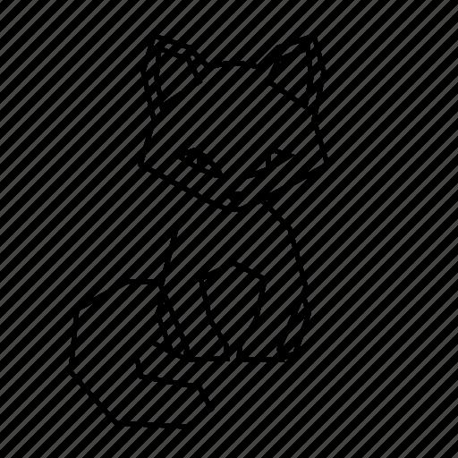 animal, body, cat, geometric, linework, nature, pet icon