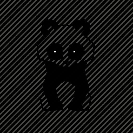 animal, body, geometric, linework, nature, panda, wild icon