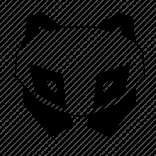 animal, geometric, head, linework, nature, panda, wild icon