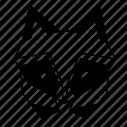 animal, geometric, head, linework, nature, raccoon, wild icon