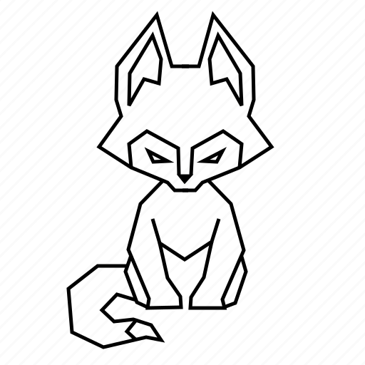 animal, body, geometric, linework, nature, wild, wolf icon