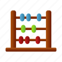 abacus, calculate, calculation, calculator, education, math, mathematics icon