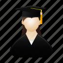 female, graduate, girl, graduation, lady, people, woman