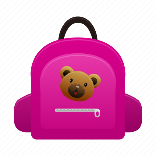 child, girl, kid, schoolbag, study icon