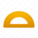education, math, measure, school, semicircleruler, study, tool icon