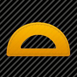education, math, measure, school, semicircleruler, study, tool icon