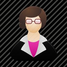 female, human, people, profile, teacher, user, woman icon