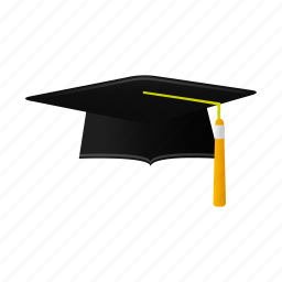 cap, education, graduation, hat, school, student, trencher icon