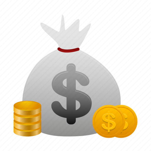 cash, coin, coins, currency, dollar, money, payment icon