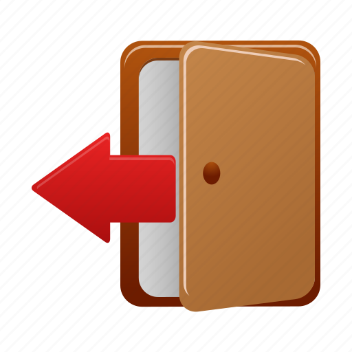 exit, logout, sign icon
