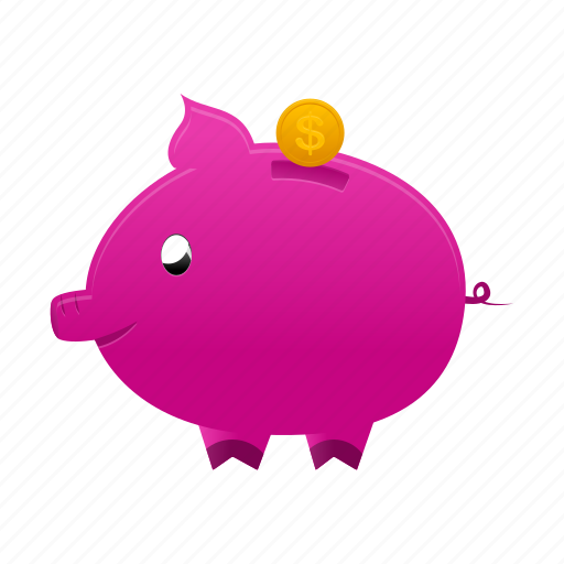 bank, coin, currency, dollar, money, payment, piggy icon