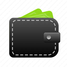 cash, currency, money, payment, pocket, purse, wallet icon