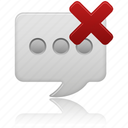delete, message, text icon