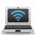 laptop, wifi icon