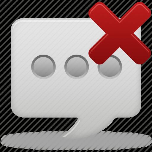 delete, message, text icon