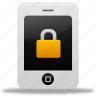 lock, phone icon