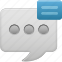 message, show, text icon