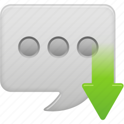 message, receive, text icon