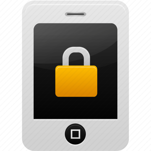 lock, phone icon