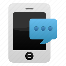 iphone, message, phone, smartphone, sms, telephone, text icon