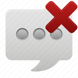 chat, communication, conversation, delete, message, talk, text icon