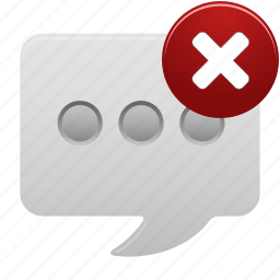 chat, communication, delete, message, talk, text icon