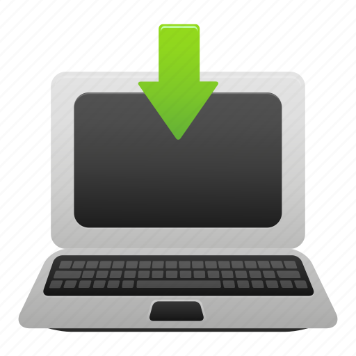 computer, display, download, laptop, monitor, pc, screen icon