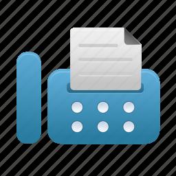 fax, print, printer, printing icon
