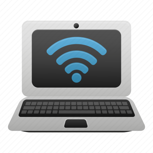 computer, connection, internet, laptop, network, online, wifi icon