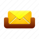 email, inbox, mail, mailbox, message, text icon