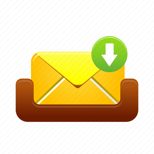 email, inbox, letter, mail, mailbox, message, receive icon