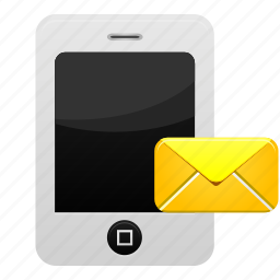 email, inbox, mail, message, phone, send, text icon