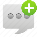 new, text, communication, message, talk, chat, conversation icon