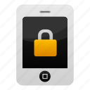 iphone, lock, phone, safe, secure, smartphone, telephone icon