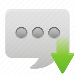 bubble, chat, communication, message, receive, talk, text icon