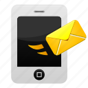 email, iphone, mail, message, phone, send, smartphone icon