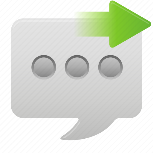 chat, communication, conversation, message, send, talk, text icon
