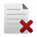delete, document, documents, file, page, paper, remove icon