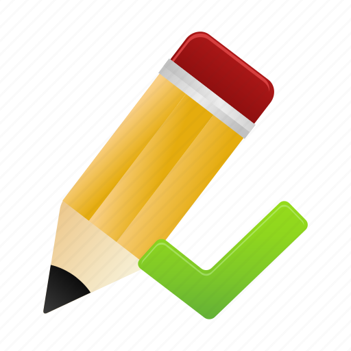 design, draw, edit, pencil, validated, write, writing icon