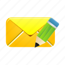 edit, email, envelope, letter, mail, message icon