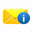 email, envelope, inbox, info, letter, mail, message icon