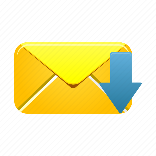 email, envelope, inbox, letter, mail, message, receive icon