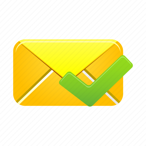 email, envelope, inbox, letter, mail, message, validated icon