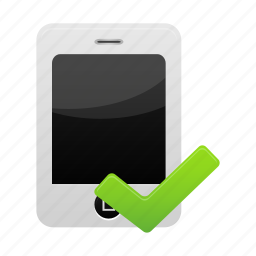 iphone, mobile, phone, smartphone, validated icon