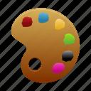 palette, art, color, design, draw, drawing, paint